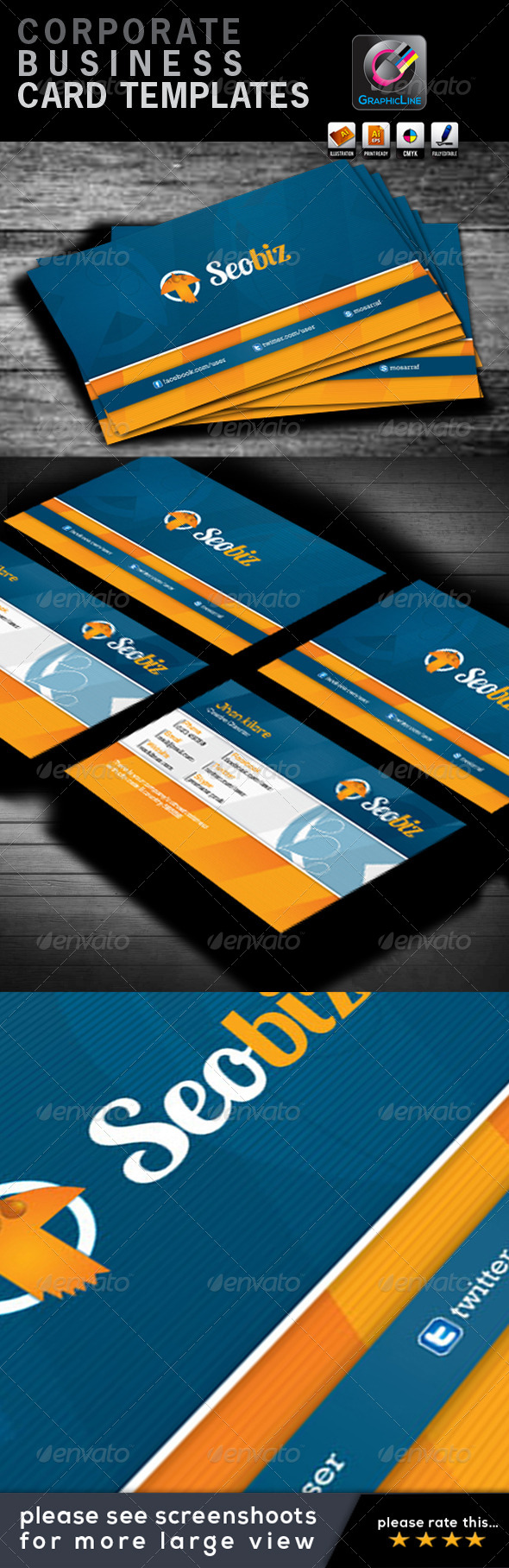 GraphicRiver Seobiz Corporate Business Card 4416863