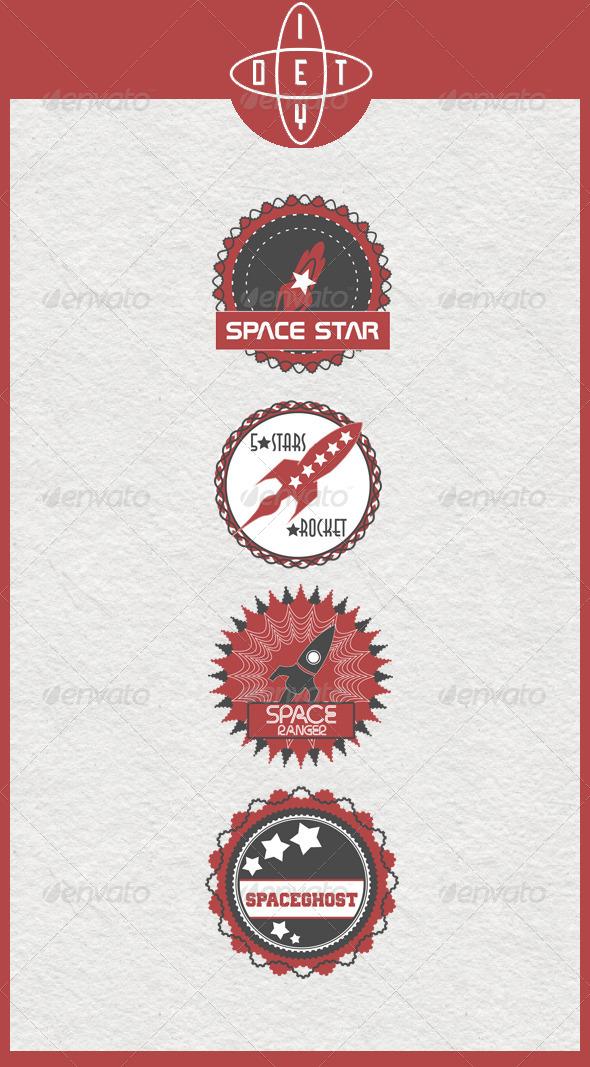 GraphicRiver Rocket Badges 4418314