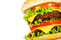 Tasty and appetizing hamburger on a white - PhotoDune Item for Sale