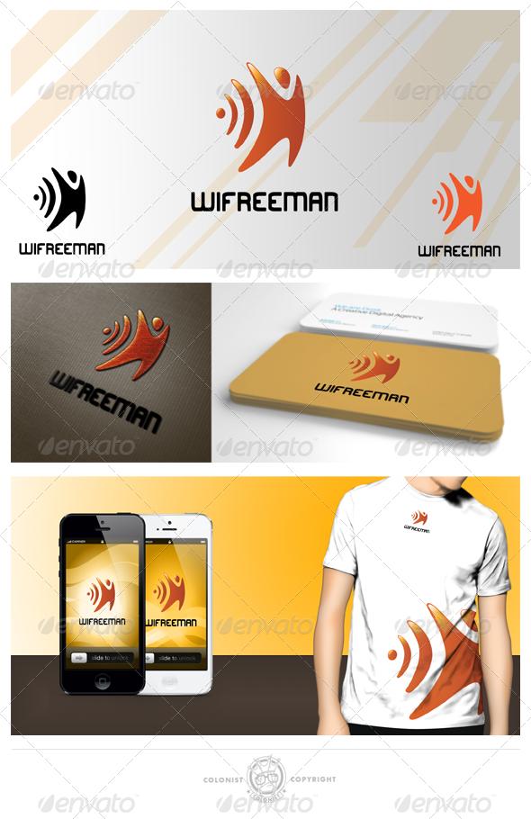 Wifreeman logo - Humans Logo Templates