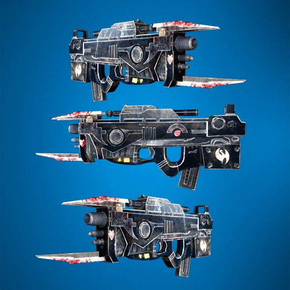 3DOcean Futuristic Gun 4418541