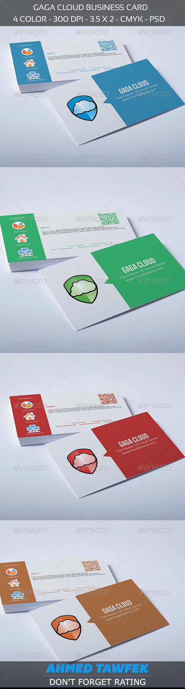 GraphicRiver Gaga Cloud Business Card 4418542