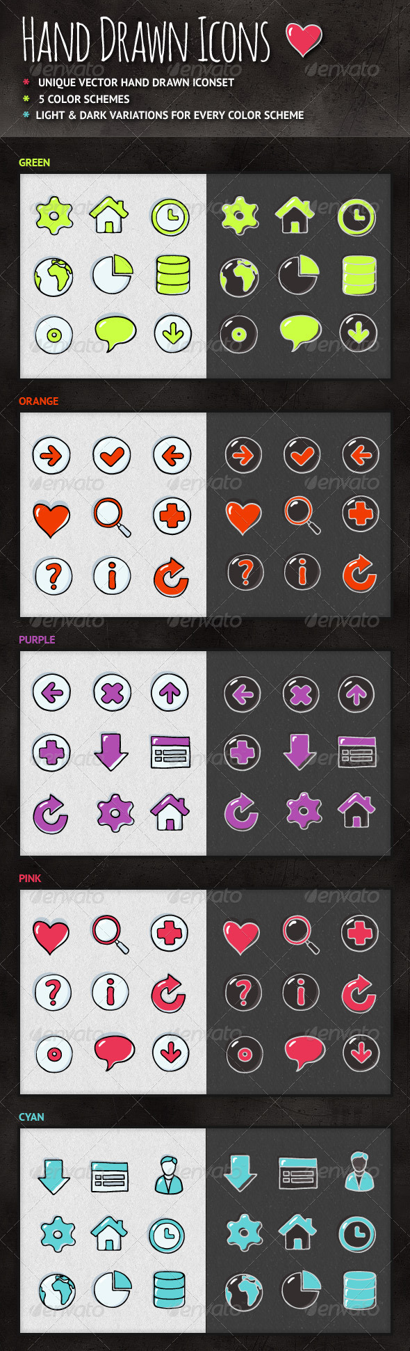 GraphicRiver Hand Drawn Icons 3969382