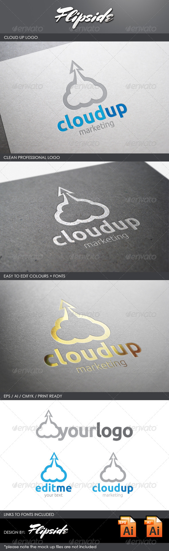 GraphicRiver Cloud Up Marketing Logo 4343252