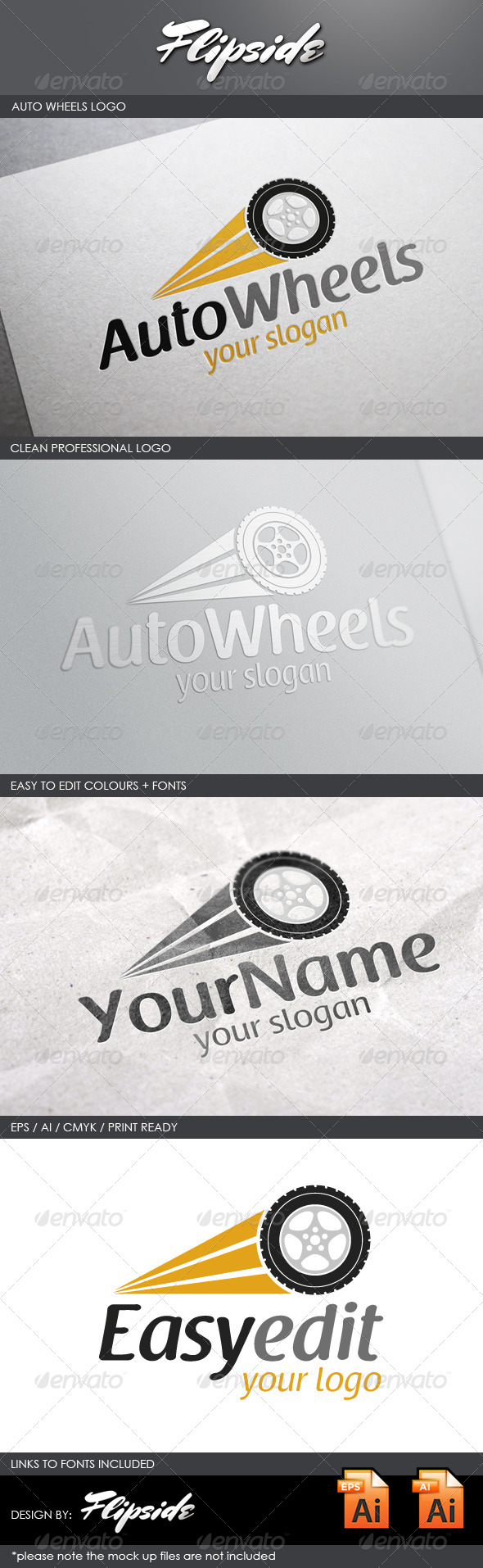 GraphicRiver Auto Wheels Logo 4327644