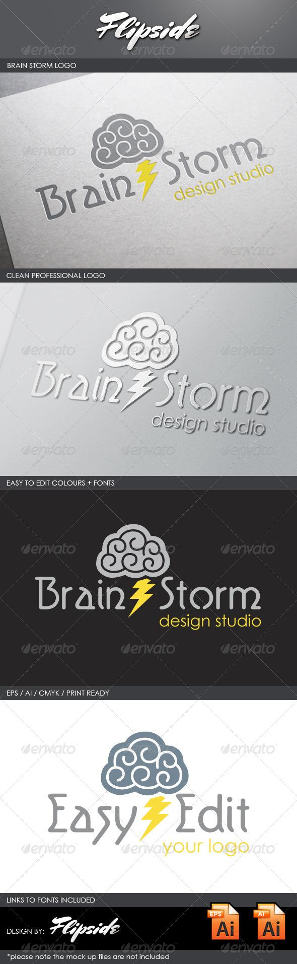 GraphicRiver Brain Storm logo 4327510