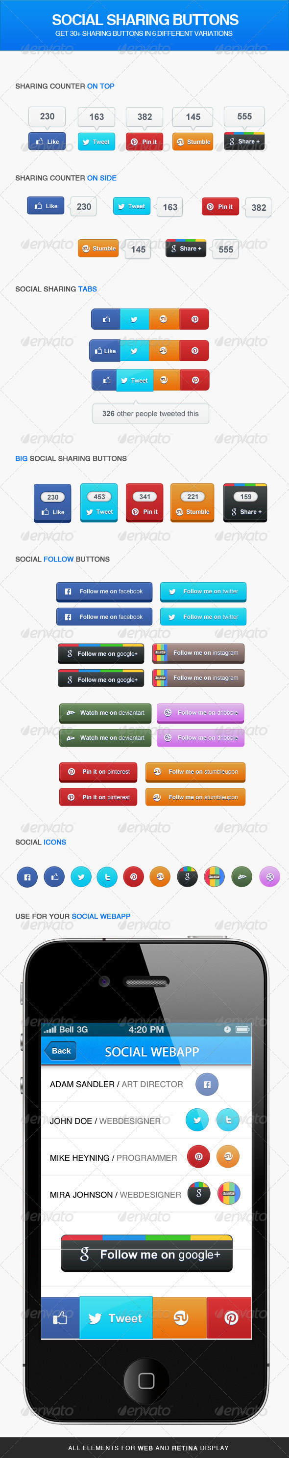 GraphicRiver Social Sharing Buttons 4418842