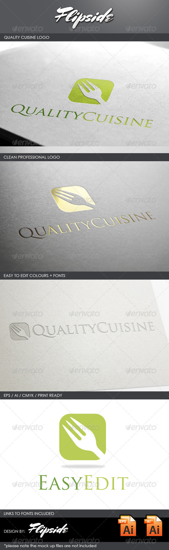 GraphicRiver Food Cuisine Logo 4327342