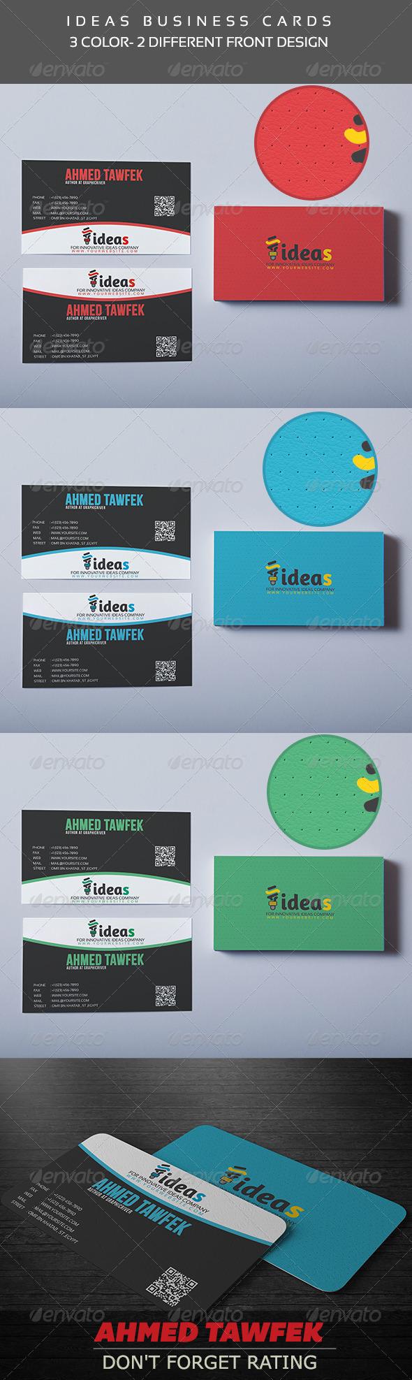 GraphicRiver Ideas Business Cards 4418854