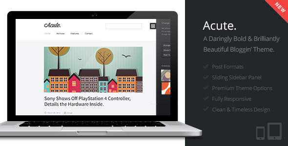 ThemeForest Acute Beautiful & Responsive Blogging Theme 4419400