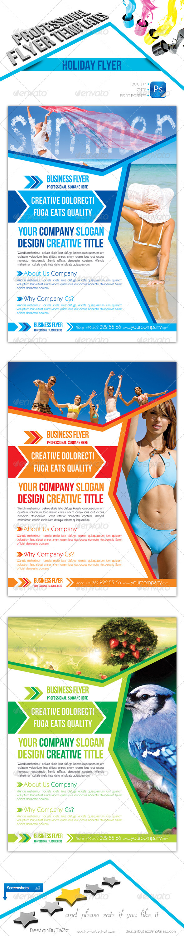 GraphicRiver Holiday Business Flyer 4419421
