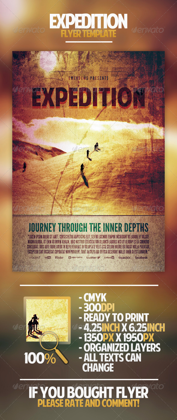 GraphicRiver Expedition Flyer Template 4419425