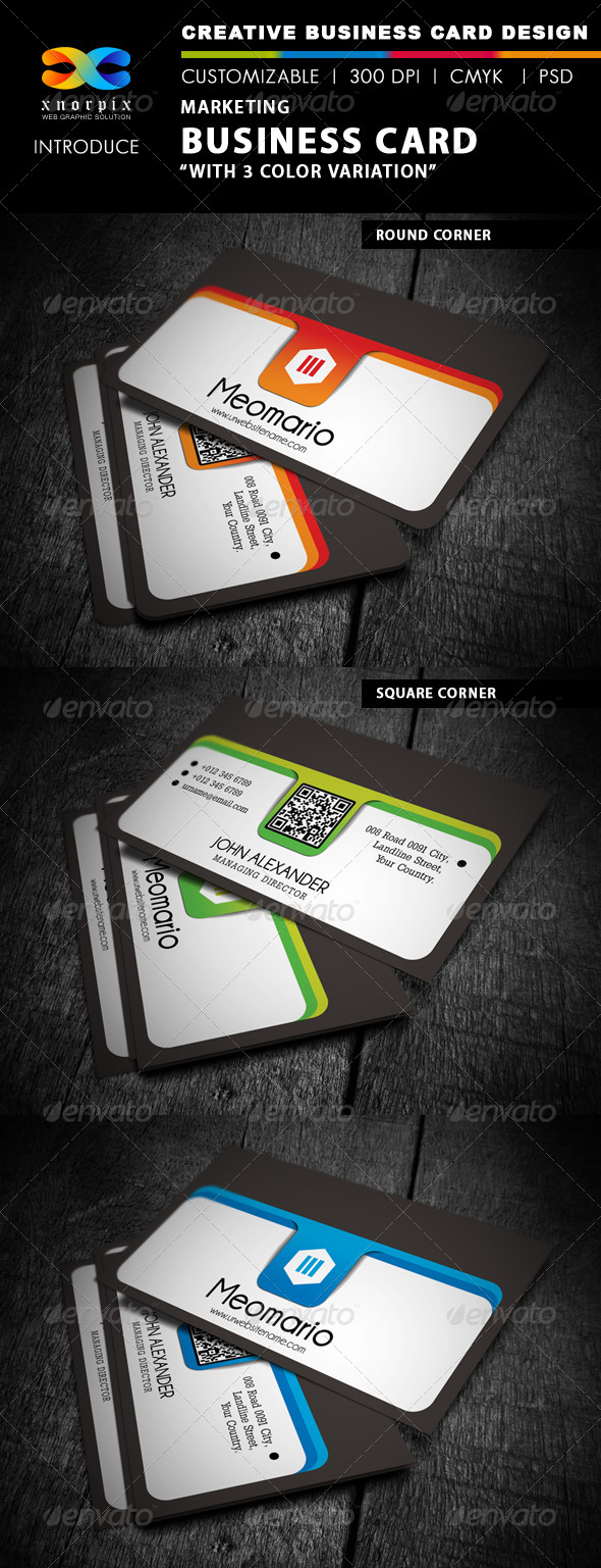 GraphicRiver Marketing Business Card 4419464