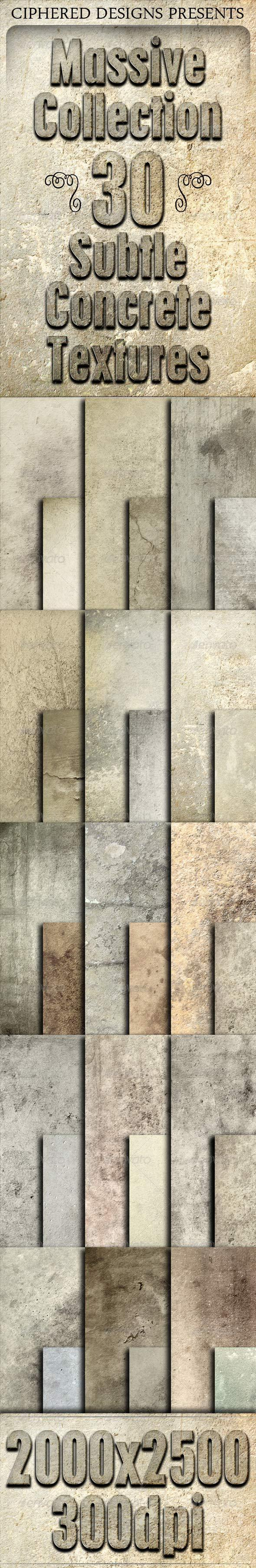 Massive Collection - 30 Subtle Concrete Textures - Concrete Textures