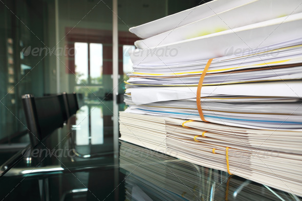 PhotoDune Files on meeting room desk 473539