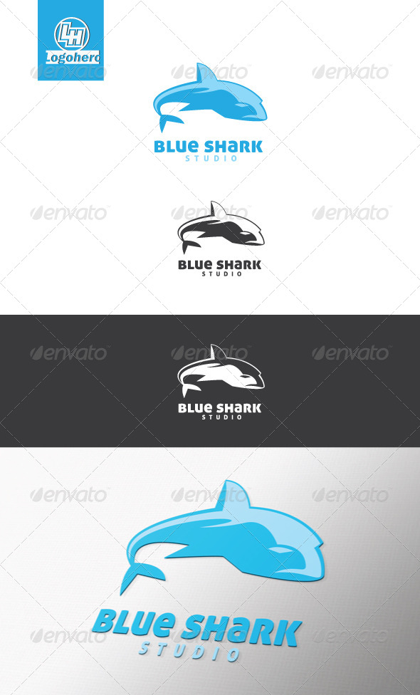 GraphicRiver Blue Shark Logo Template 4420026