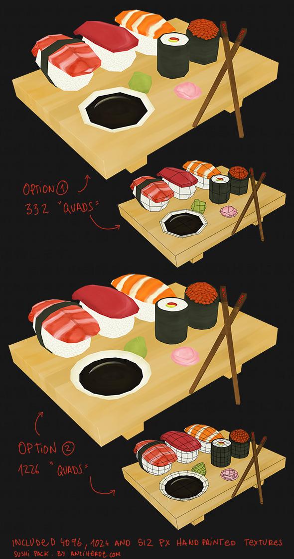 3DOcean Sushi Pack 4420486
