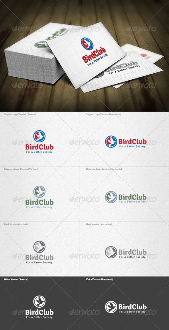 GraphicRiver Bird Club Logo 4420789