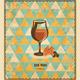 Red Wine Mosaic Pattern