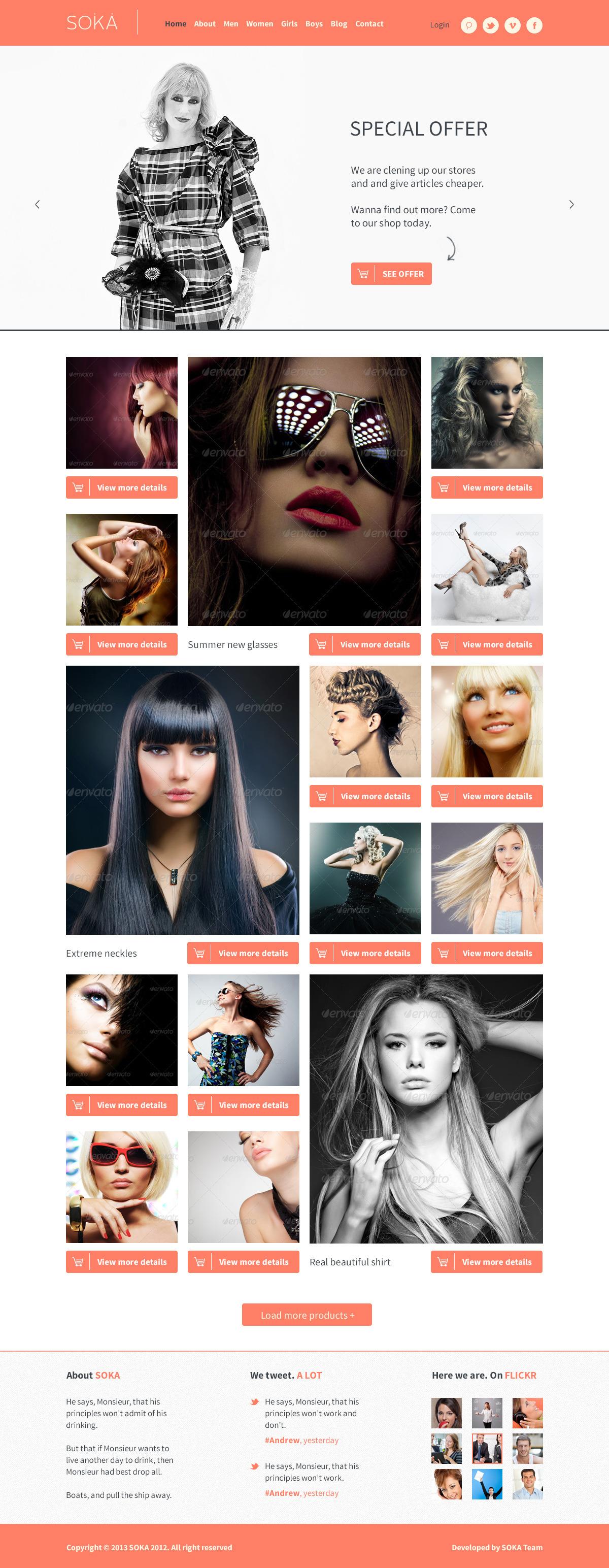 SOKA - PSD Templates Fashion Online Shop