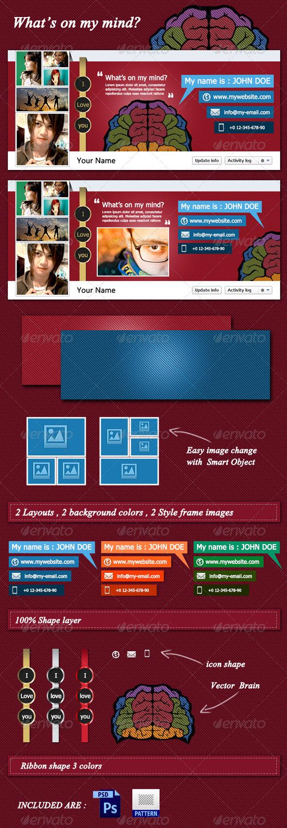 GraphicRiver My Mind Facebook Timeline Cover 4420896