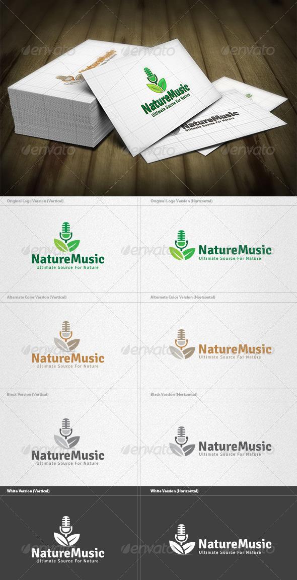 GraphicRiver Nature Music Logo 4420909
