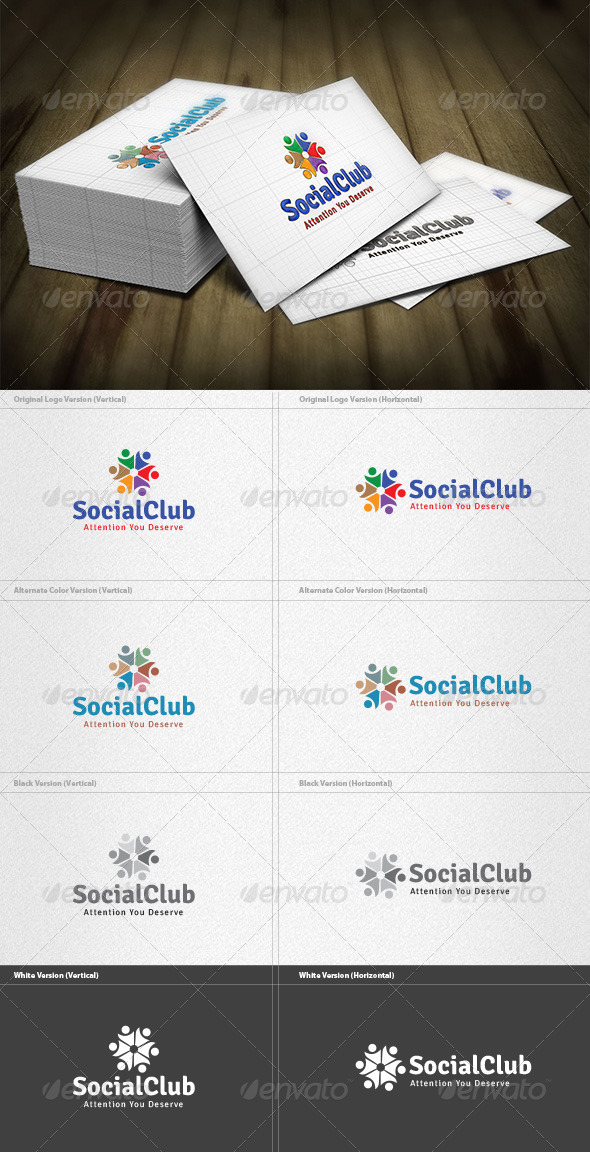 GraphicRiver Social Club Logo 4421011