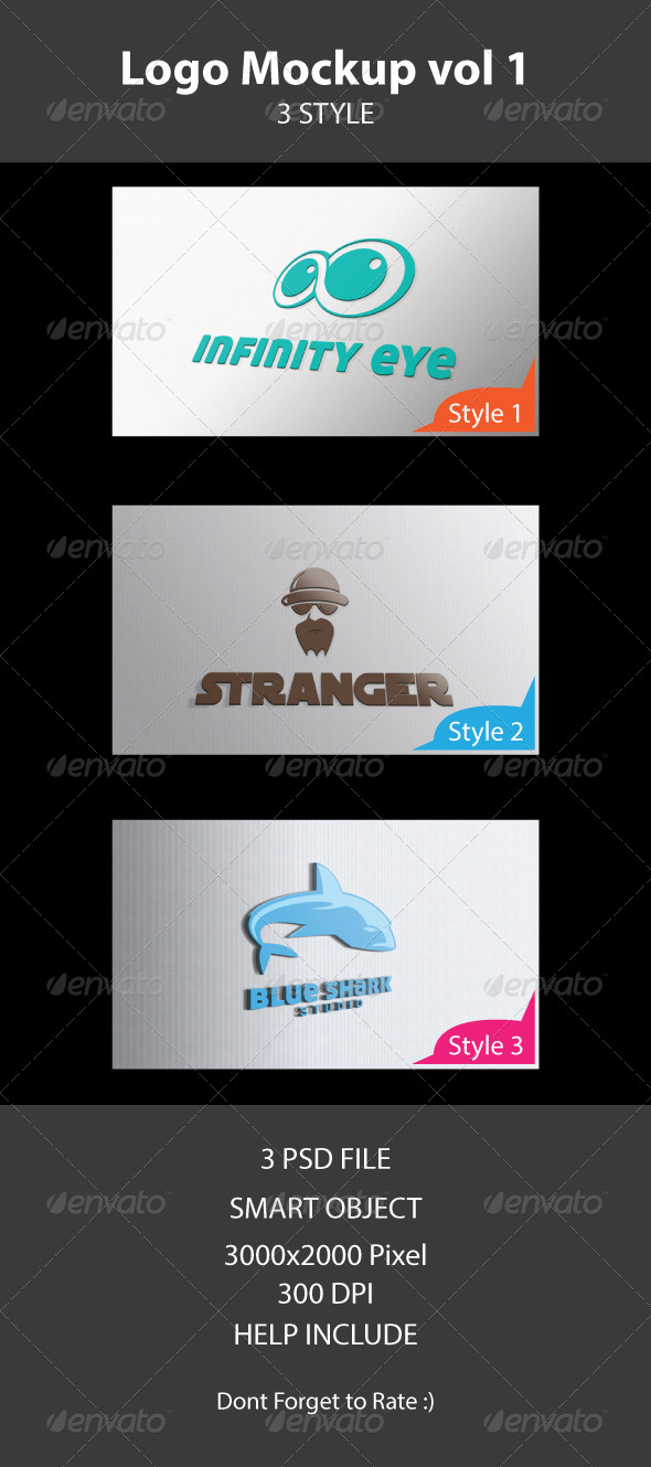 GraphicRiver Logo Mock Up Vol 1 4421021