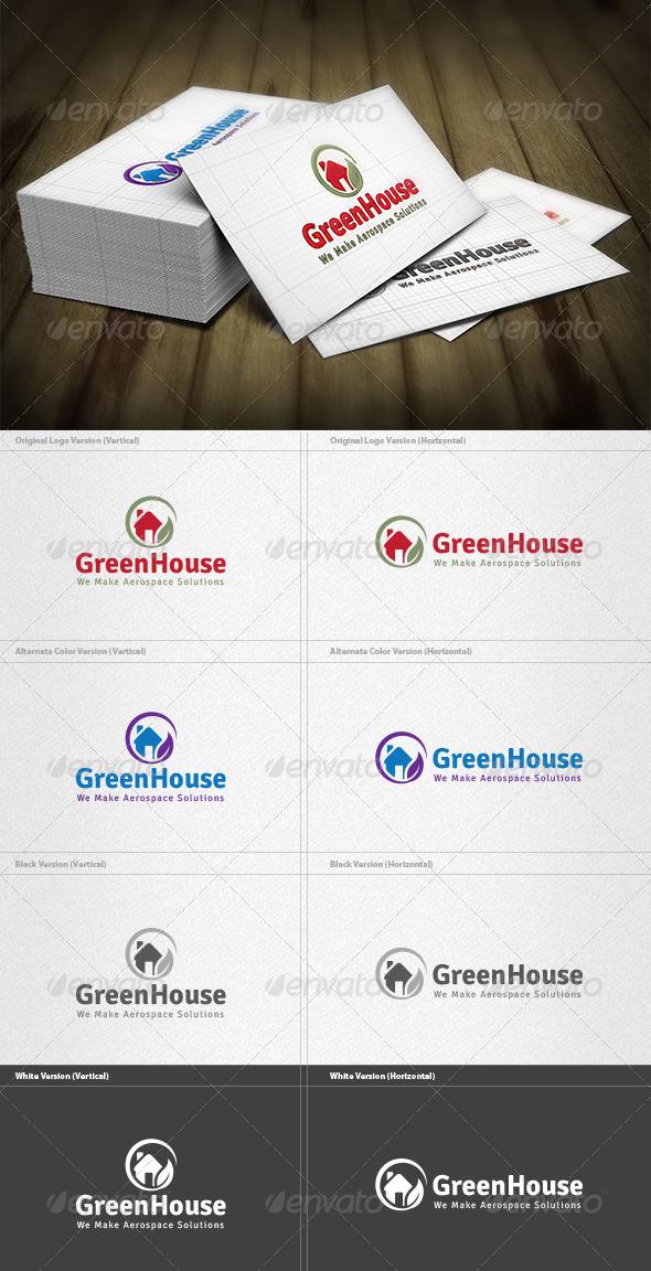 GraphicRiver Green House Logo 4421053