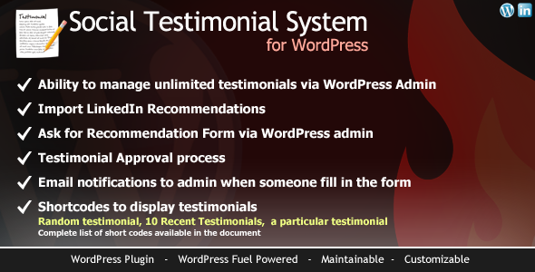 CodeCanyon WordPress Social Testimonial System 4421072