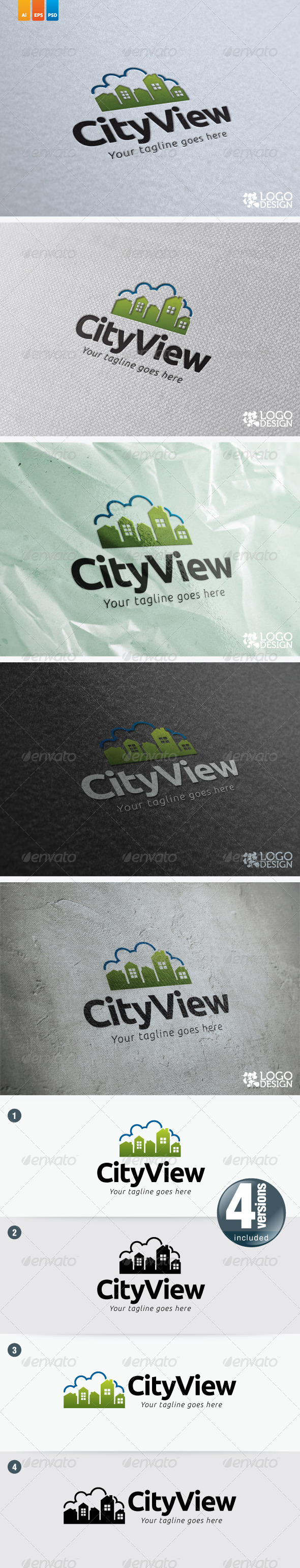 City View - Buildings Logo Templates