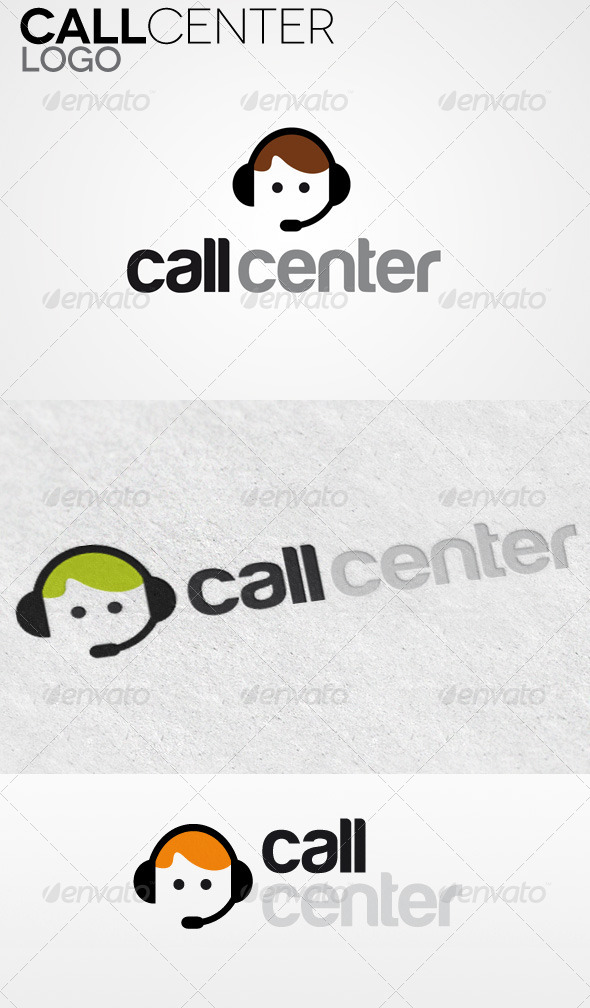GraphicRiver Call Center Logo 4175415