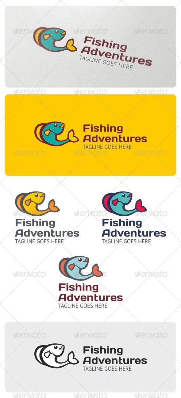 Fishing Adventures Logo Template