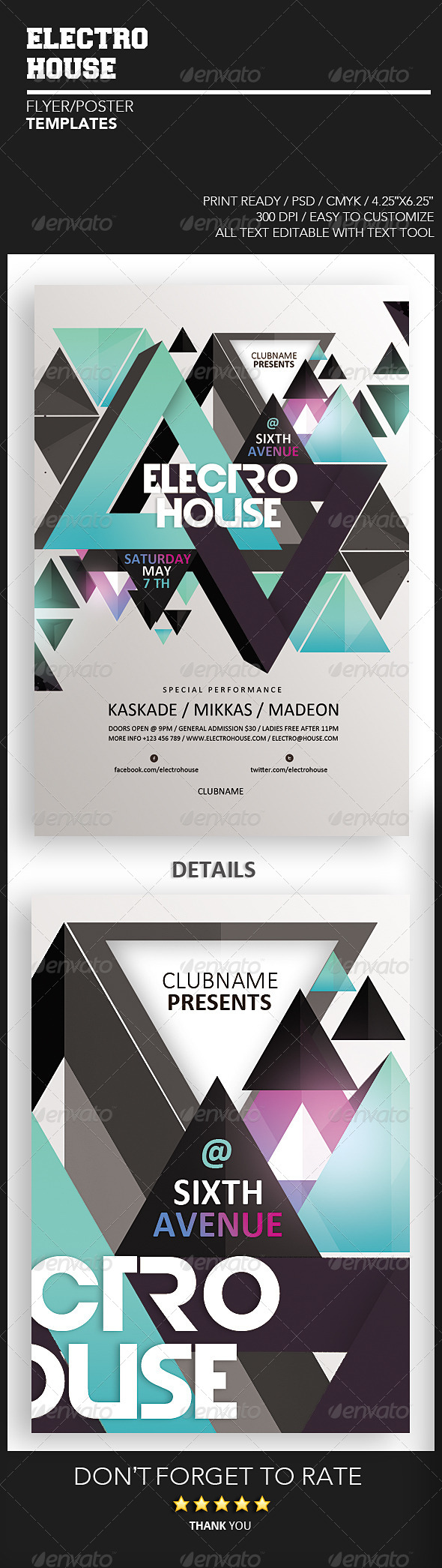GraphicRiver Electro House Flyer 4323942