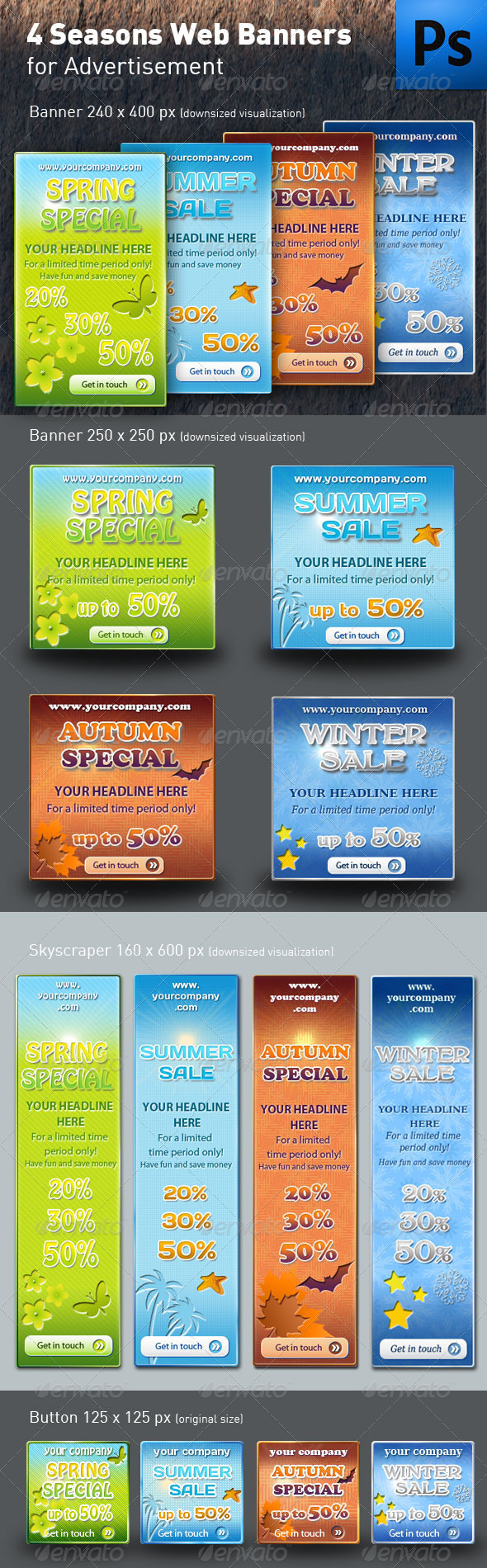GraphicRiver Seasons Web Banners or boxes 473412