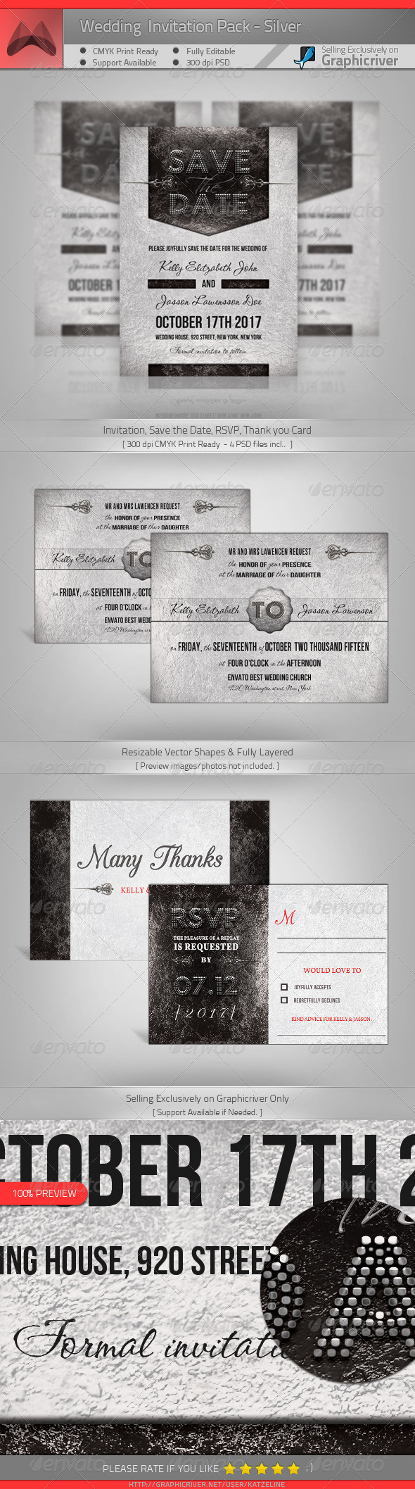 GraphicRiver Wedding Package Silver 4422170