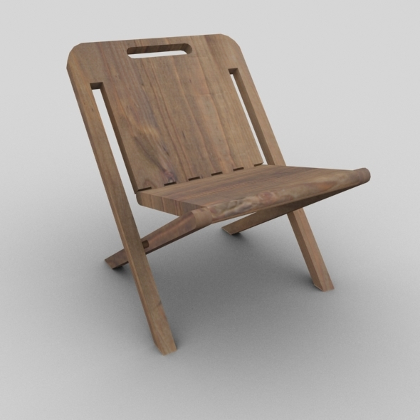 Wooden Folding Chair - 3DOcean Item for Sale