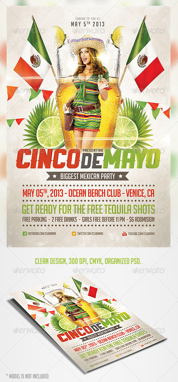 Cinco de Mayo Party Flyer 3