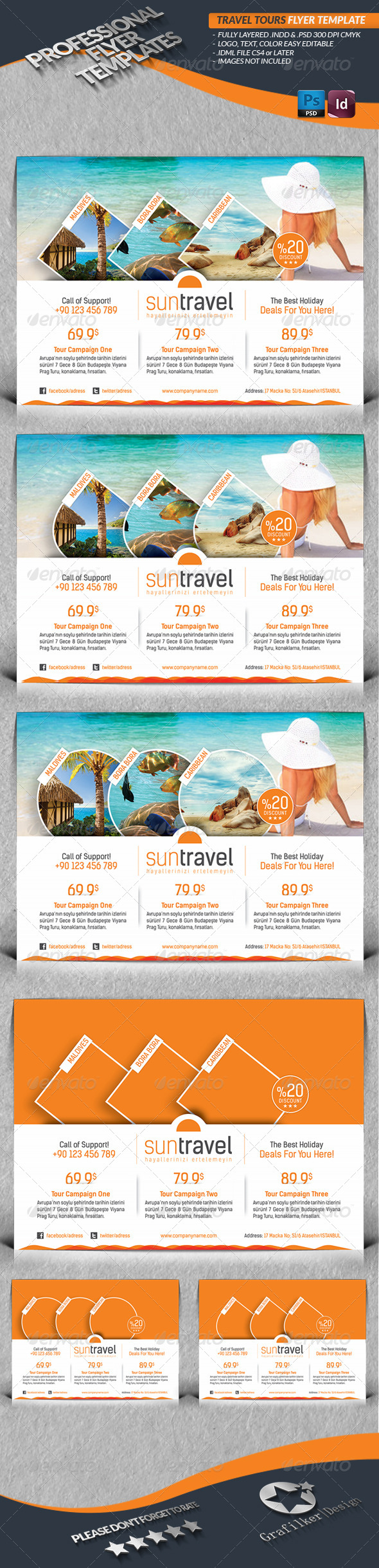 GraphicRiver Travel Tours Flyer Template 4422587