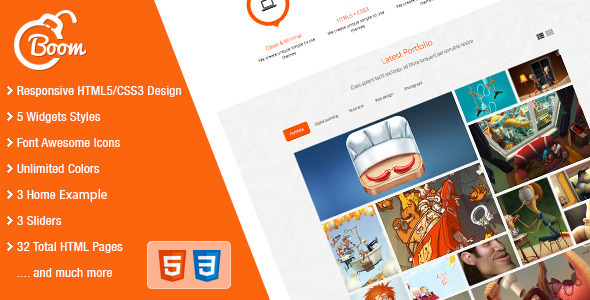 ThemeForest Boom Responsive HTML5 Template 4422805