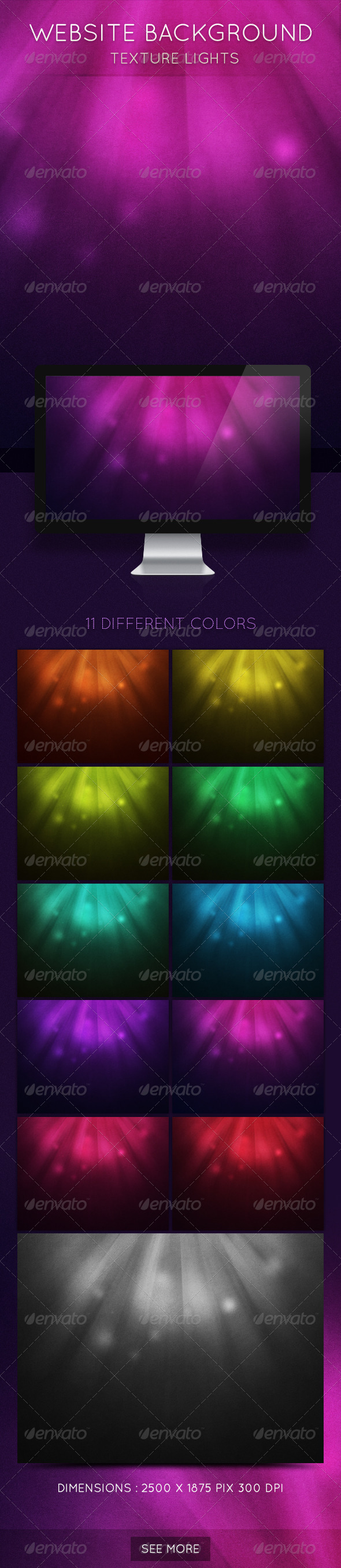 Website Background Texture Lights