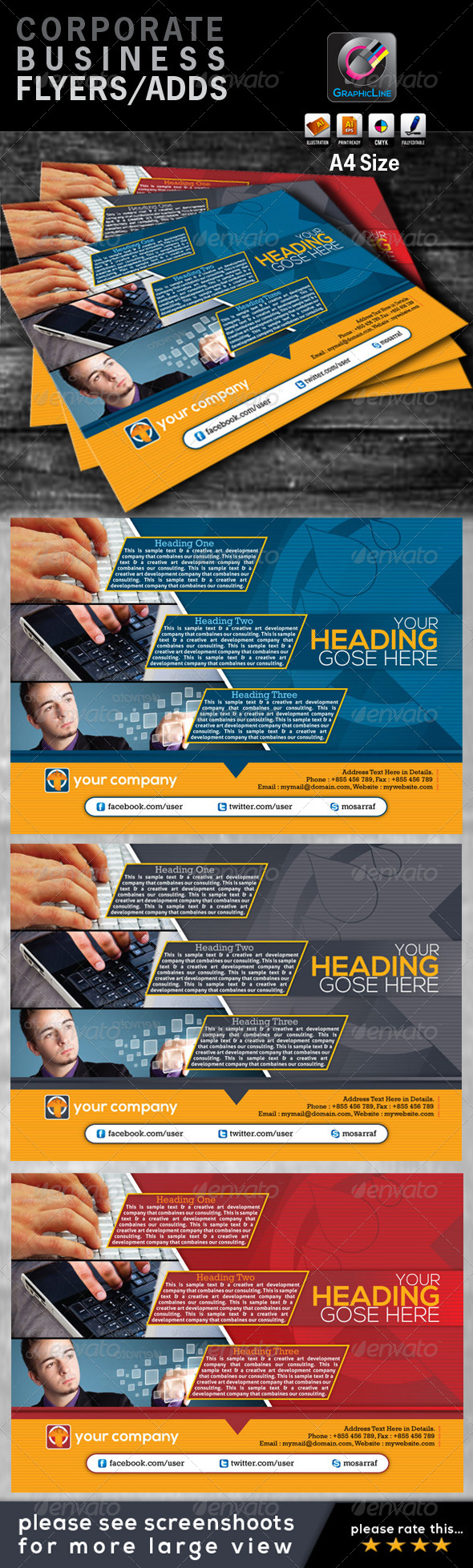GraphicRiver Corporate Business Flyers Ads 4423201