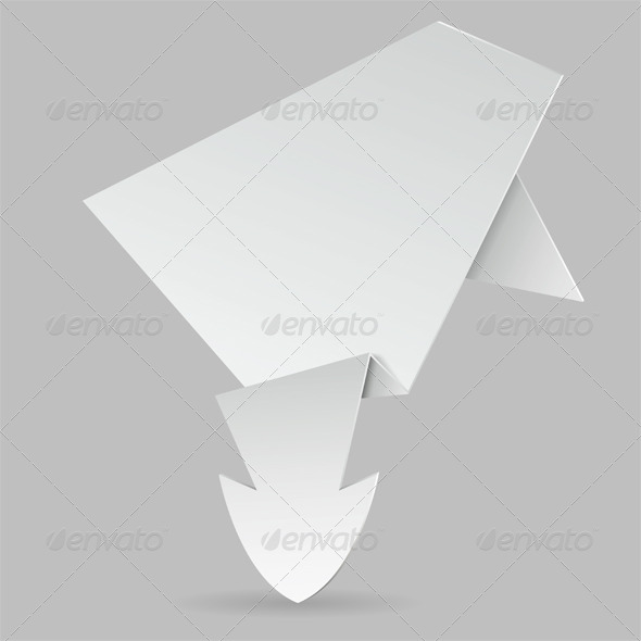 GraphicRiver Paper Origami Arrow 4423232