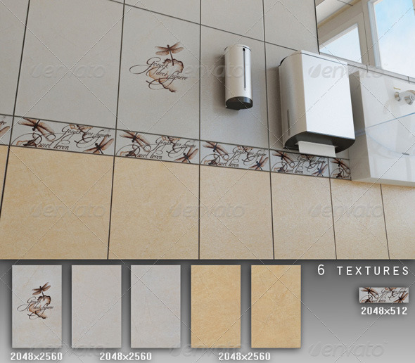 Professional Ceramic Tile Collection C011 - 3DOcean Item for Sale