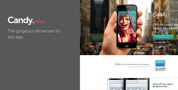 Candy - App Showcase - Creative Landing Pages