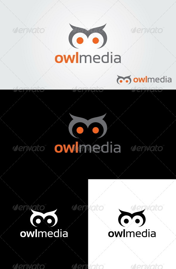 GraphicRiver Owl Media Logo 4423520