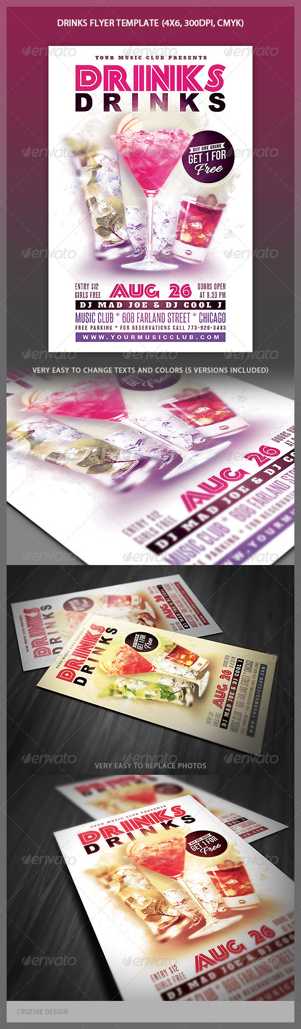 GraphicRiver Drinks Flyer Template 4423671