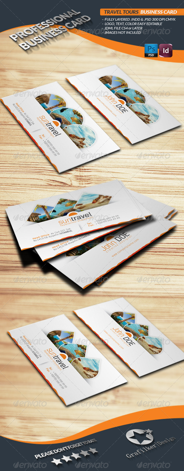 GraphicRiver Travel Tours Business Card Template 4423913