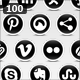 Black and White Social Media Icons  - GraphicRiver Item for Sale