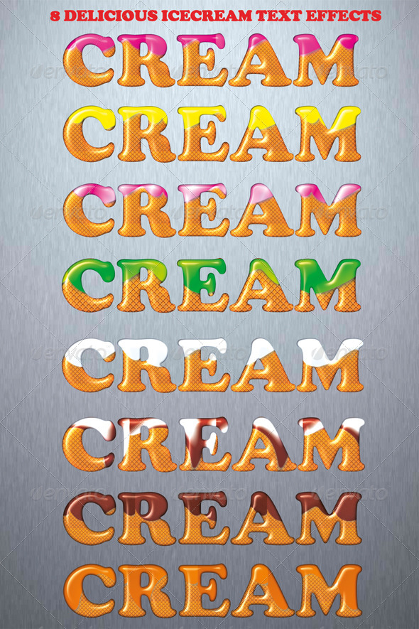 GraphicRiver Icecream Text Styles 4425710